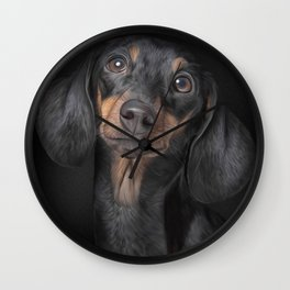 Drawing Dog breed dachshund Wall Clock