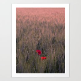 A DOUBLE RED DREAM Art Print