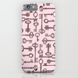 Old Keys-Pink iPhone Case