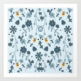 Bumbling and Busy Art Print
