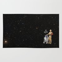c3po Area & Throw Rugs featuring R2D2 & C3PO Need YOU by cvrcak