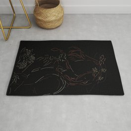 Anne with an E - Scope for the imagination - black version Rug