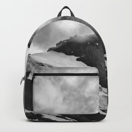 Misty Mountains And Glaciers. Alps. Swithzerland Backpack