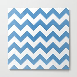 light blue chevron pattern Metal Print