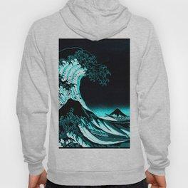 The Great Wave : Dark Teal Hoody