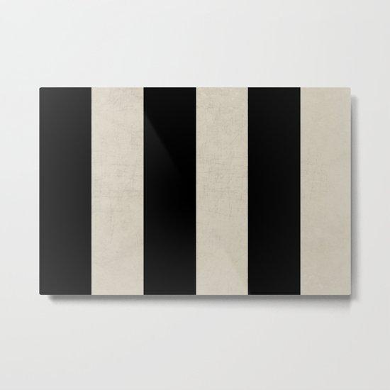 vintage black stripes Metal Print