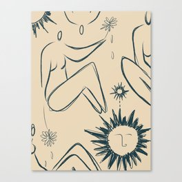 Women peace Canvas Print
