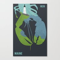 maine Canvas Prints featuring Maine by AtomicChild