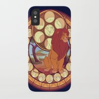 simba iPhone & iPod Cases featuring Simba by NicoleGrahamART