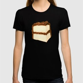 Chocolate Cake Slice Pattern - Blue T-shirt