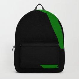 v (GREEN & BLACK LETTERS) Backpack