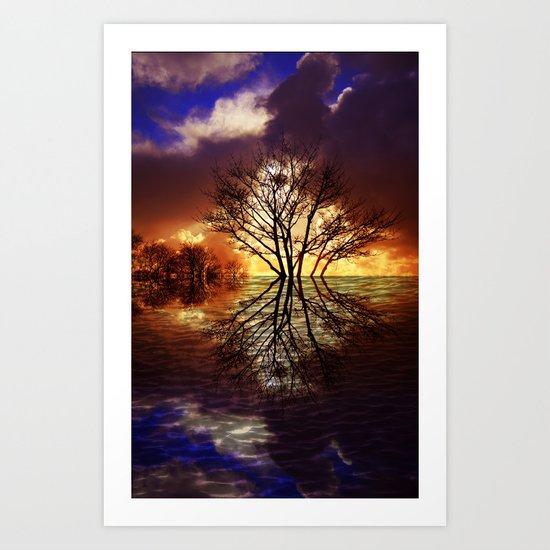 Night stream Art Print