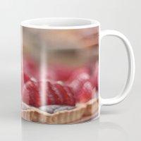 dessert Mugs featuring Strawberry Dessert by Serena Jones Photography