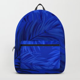 Palm Tree Fronds Brilliant Blue on Blue Hawaii Tropical Décor Backpack