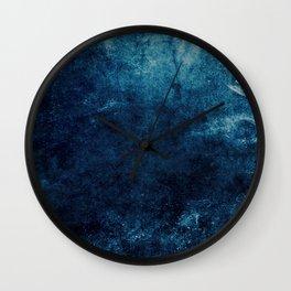 Grunge Blue Wall Clock