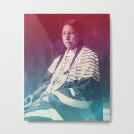 LUCY RED CLOUD SIOUX NATIVE AMERICAN Metal Print