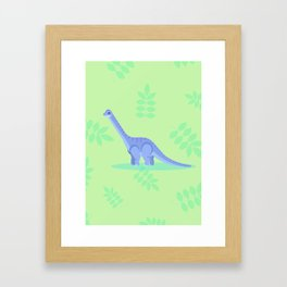 Brontosaurus, There When You Can't Reach the Shelf Above the Fridge Framed Art Print
