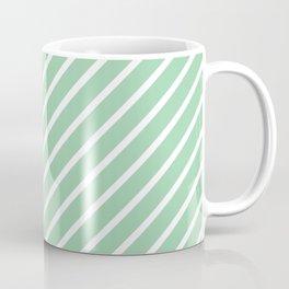 Mint Green Tight Stripes Coffee Mug