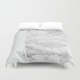 Milk On Marble Duvet Cover