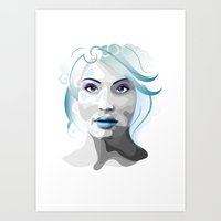 gemma Art Prints featuring Gemma by Ketina