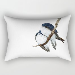 Togetherness - Tree Swallows by Teresa Thompson Rectangular Pillow