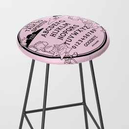 Let's Talk To Spirits | Pastel Pink Black Summoning Board Game Bar Stool