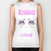 kawaii Biker Tanks featuring KAWAII by s3tok41b4
