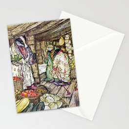 """""""The Badger's House"""" by Arthur Rackham Stationery Cards"""