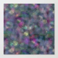 holographic Canvas Prints featuring Dark holographic by ravynka