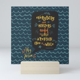 Everybody--even monsters--needed a little attention once in a while. Percy Jackson Mini Art Print