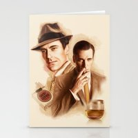mad men Stationery Cards featuring MAD MEN DON DRAPER by TOXIC RETRO