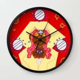The Keeper, Goddess of Planets Wall Clock