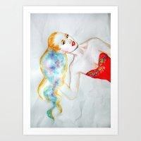 iggy azalea Art Prints featuring Iggy Azalea  by eleidiel