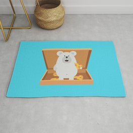 Polar Bear in Rug