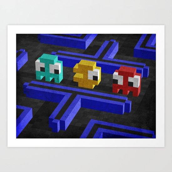 Pac-Man's dilemma Art Print