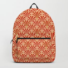 Art Deco Fan Pattern, Mandarin Orange Backpack