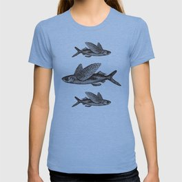 Flying Fish | Black and White T-shirt
