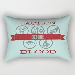 Faction Before Blood Rectangular Pillow