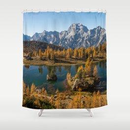 Dolomites 17 - Italy Shower Curtain