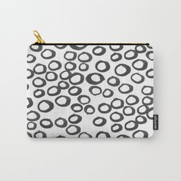 Hand painted monochrome rings pattern Carry-All Pouch