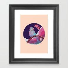 bird in colors Framed Art Print