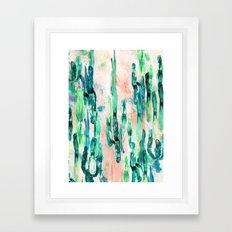 Sunset Cactus Framed Art Print