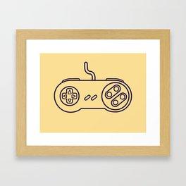 Super Nintendo Controller - Retro Style.  Framed Art Print