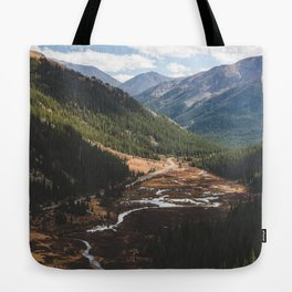 Climbing Independence Pass Tote Bag