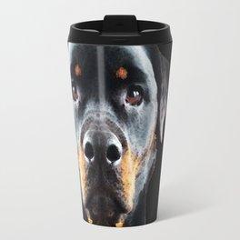Rottie Love - Rottweiler Art By Sharon Cummings Travel Mug