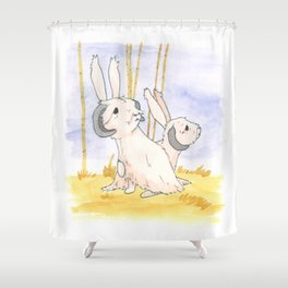 Long Haired Jackalope Mates Shower Curtain