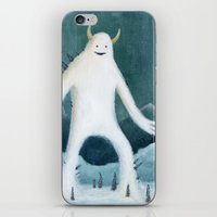 yeti iPhone & iPod Skins featuring Yeti by Monster Tea Party