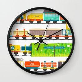 Long Train Wall Clock