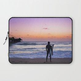 Surfer at Sunset Laptop Sleeve