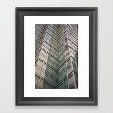 City Chevron Framed Art Print
